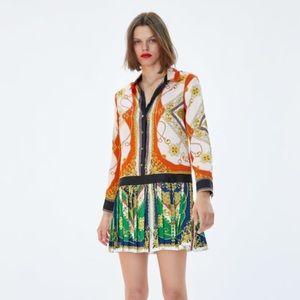 Zara Dresses - NWT Zara Patchwork Chain Print Dress Small Rare